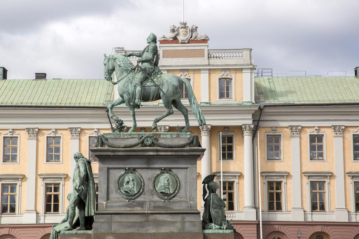 Gustav II Adolf-statyn av Archeveque. Stockholm © KevinAlexanderGeorge/iStock