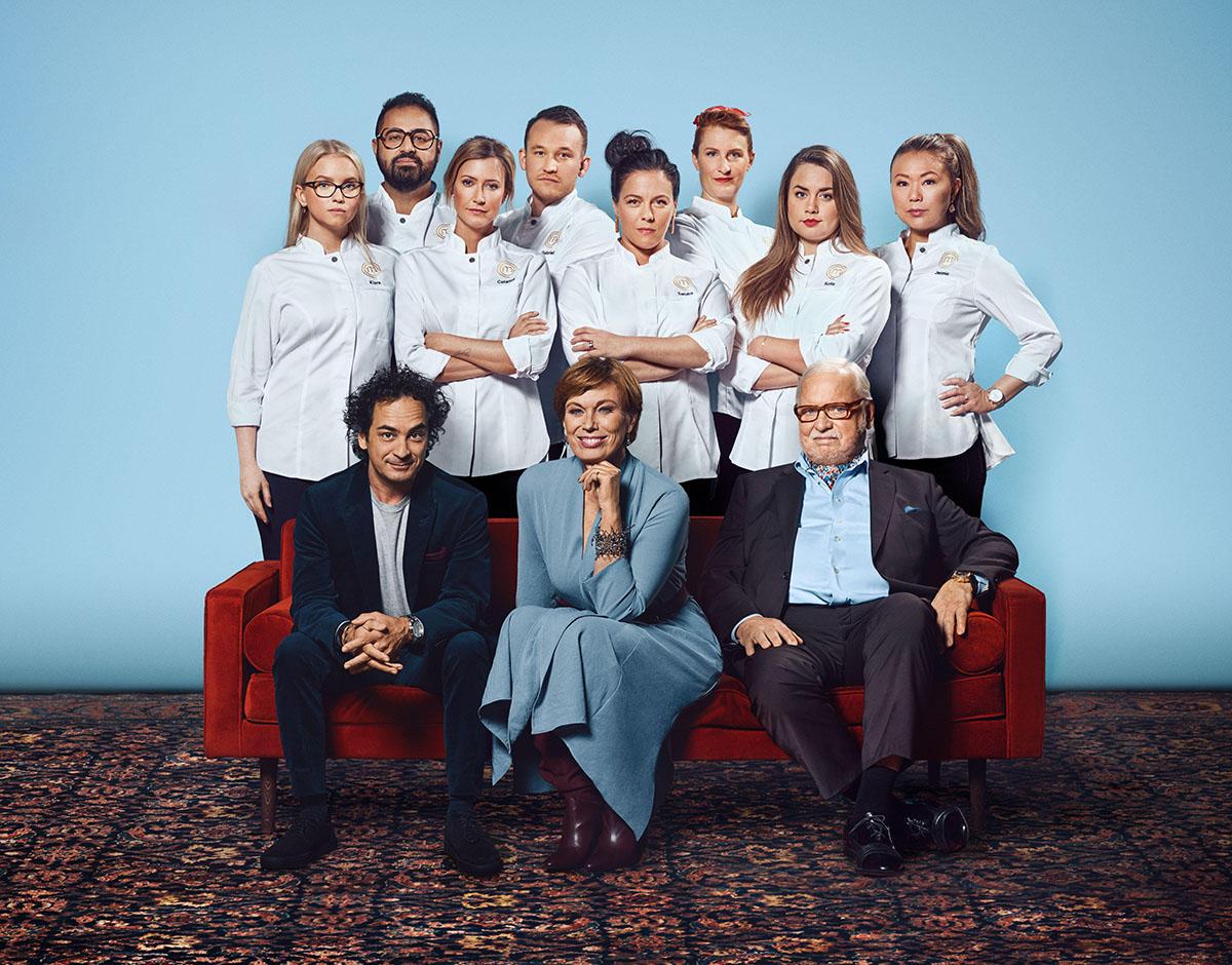 Gruppbild med juryn. Decenniets mästerkock 2020 © Karolina Henke/TV4/C More