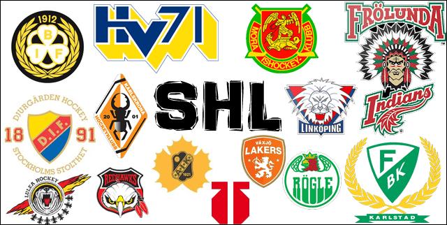 SHL alla lag © tvprogram.se